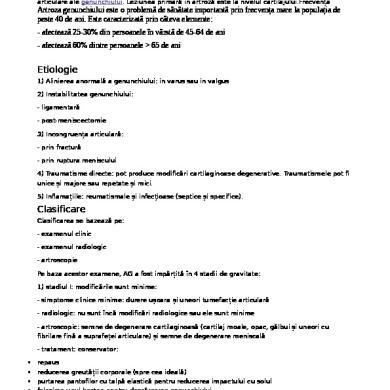 Poliartrita reumatoida - Metode moderne de tratare a artritei genunchiului