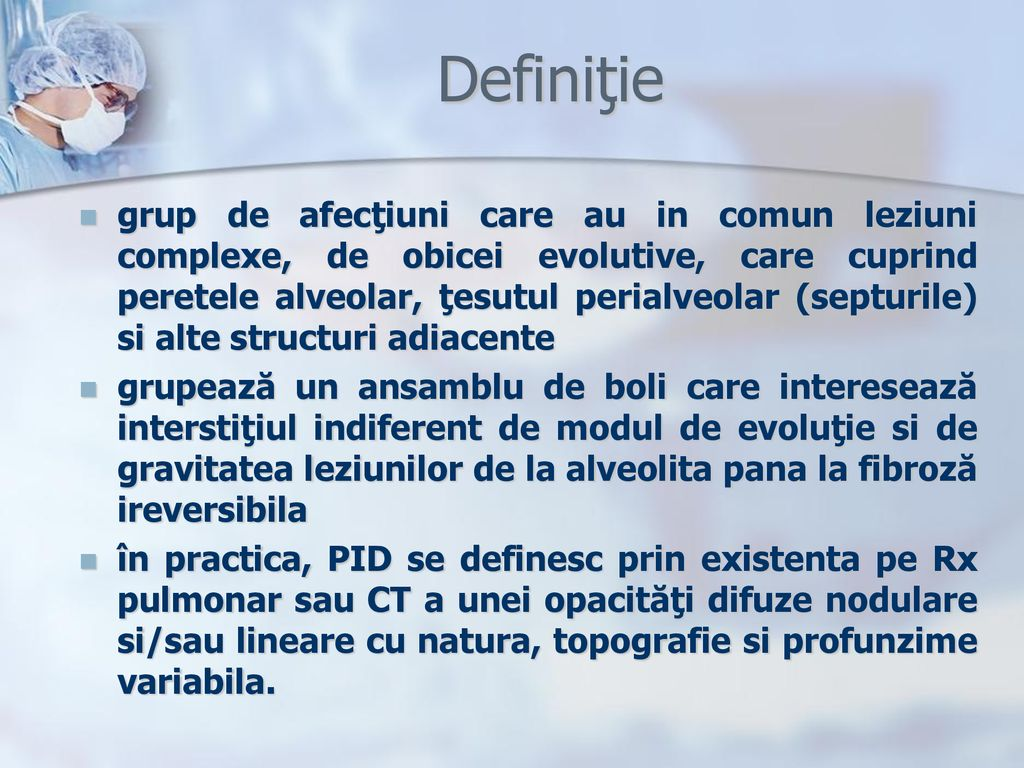 leziuni pulmonare în boli de țesut conjunctiv difuz)
