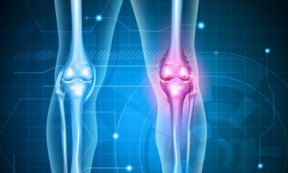 sărind scările și articulațiile genunchiului