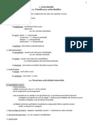 clasificarea afectării oaselor și articulațiilor