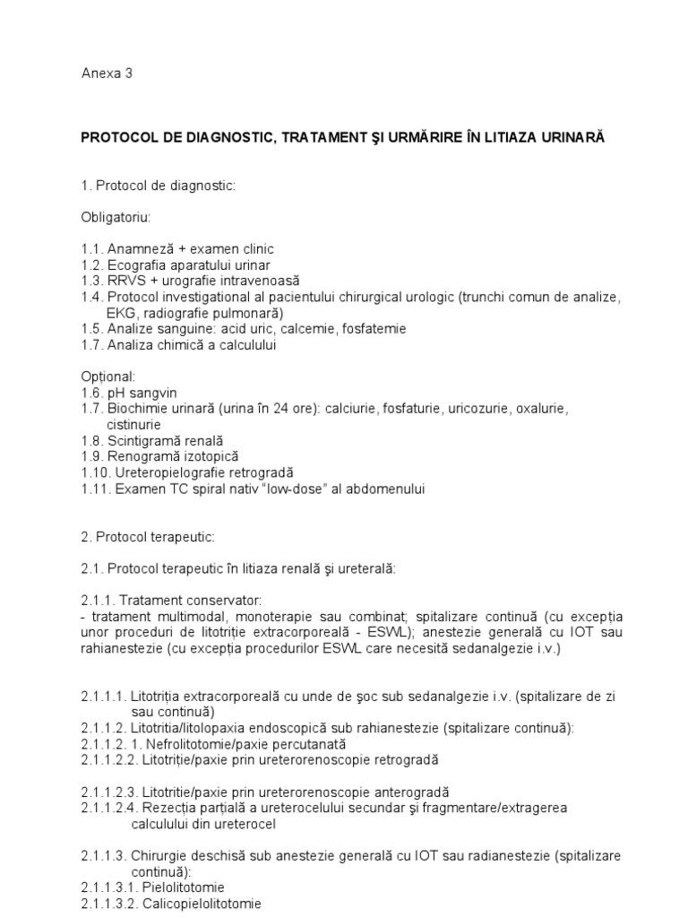 examen de tratament comun)