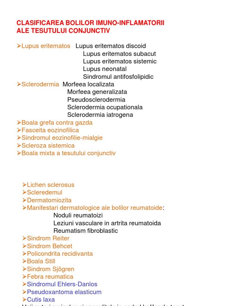 boli sistemice ale dermatomiozitei țesutului conjunctiv