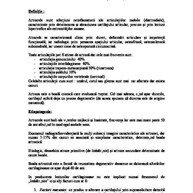 probleme ale pacientului cu boală articulară)