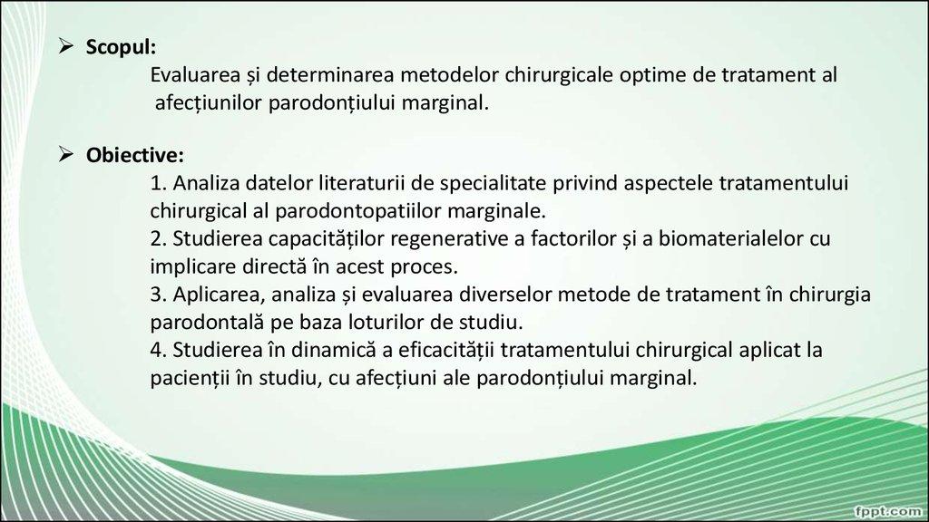 analize de tratament comun)