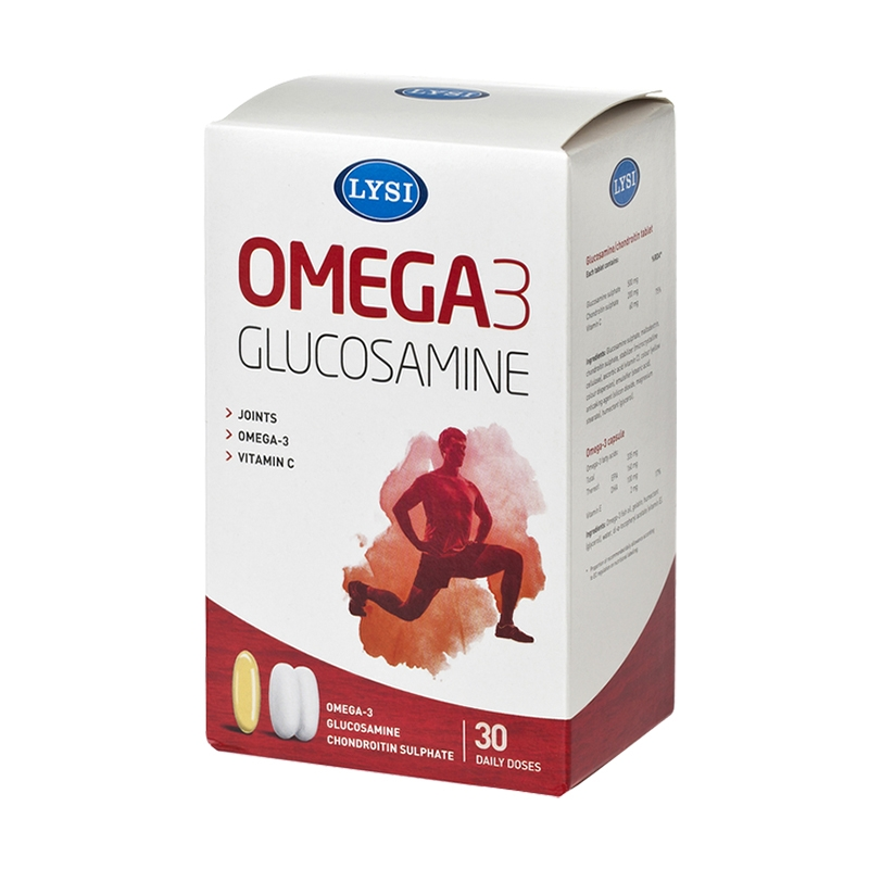 Omega-3 Glucosamina, Condroitina si Vitamina C LYSI, 30 doze | Catena | Preturi mici!