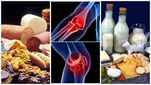 intestine și dureri articulare