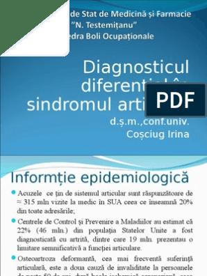 diagnostic diferențial al bolilor articulare