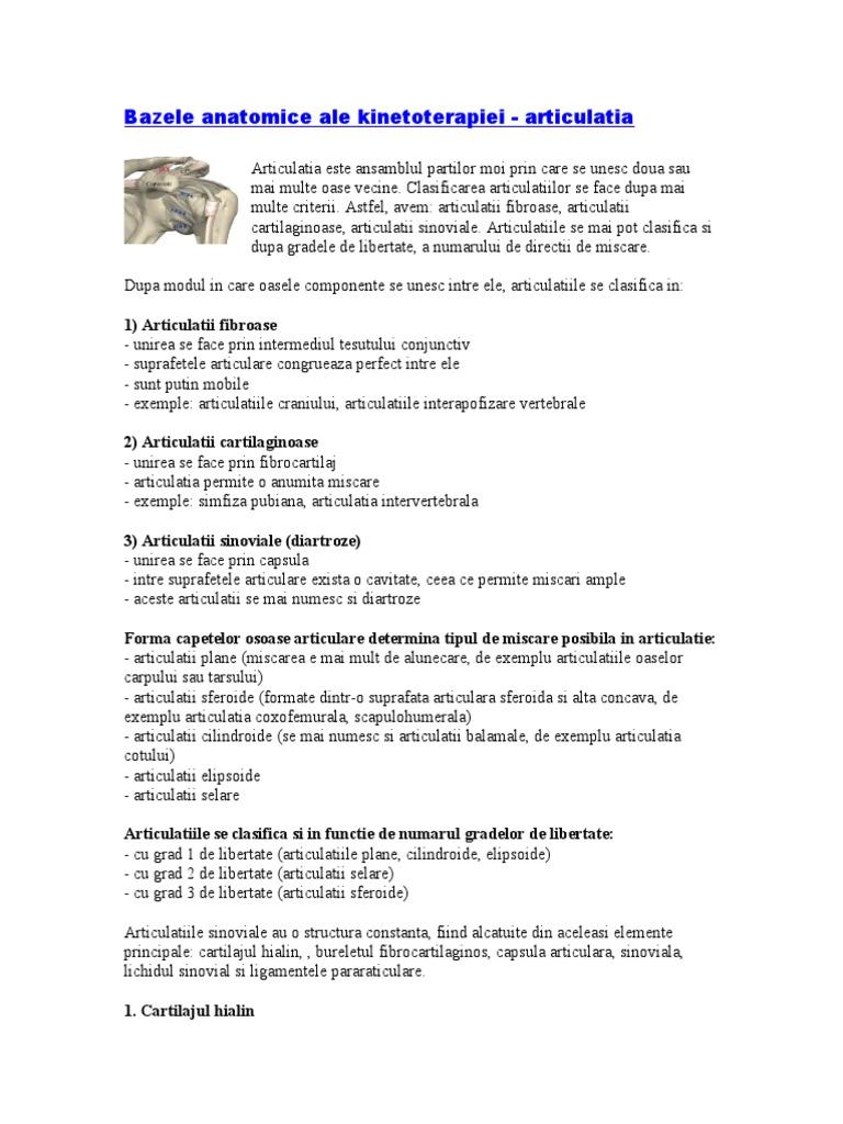clasificarea bolilor osoase și articulare)