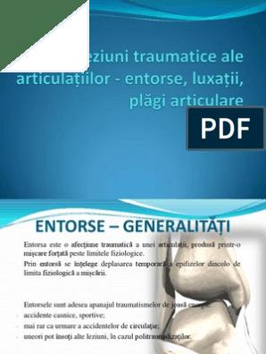 leziuni traumatice ale articulațiilor
