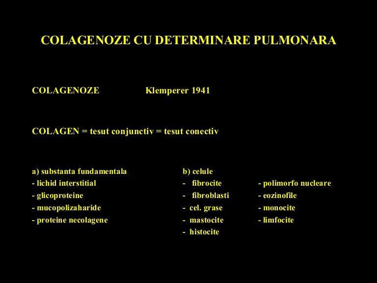boli ale țesutului conjunctiv cu leziuni pulmonare)