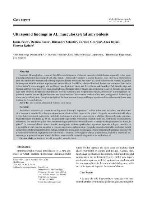 Diagnosticul diferential in poliartrita reumatoida