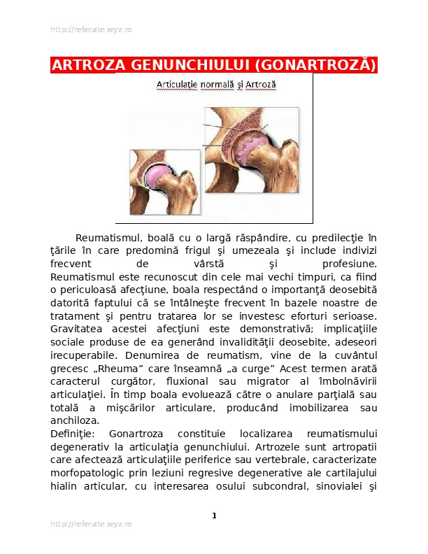 inflamație articulară sistemică)