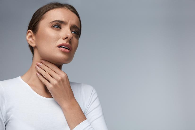 leziuni fără gât la durere