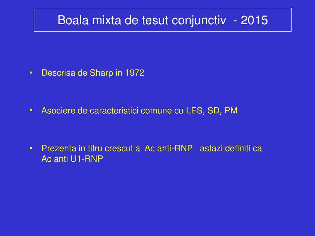 concept de boală mixtă a țesutului conjunctiv