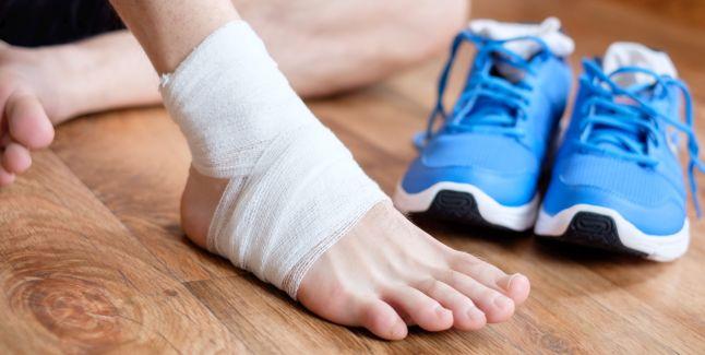leziuni la glezna piciorului)
