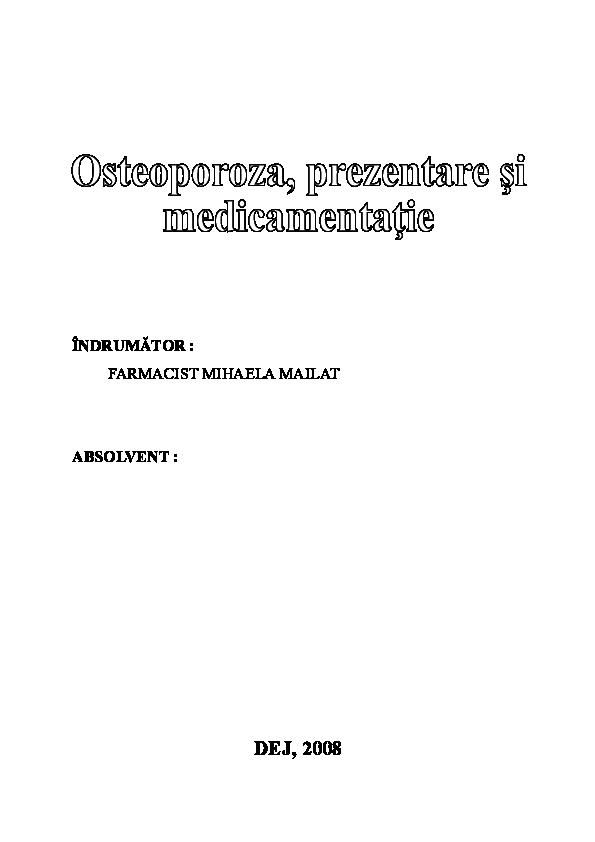Analgezice pentru osteoporoza spinal ă)