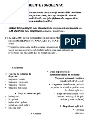evaluarea unguentelor comune)