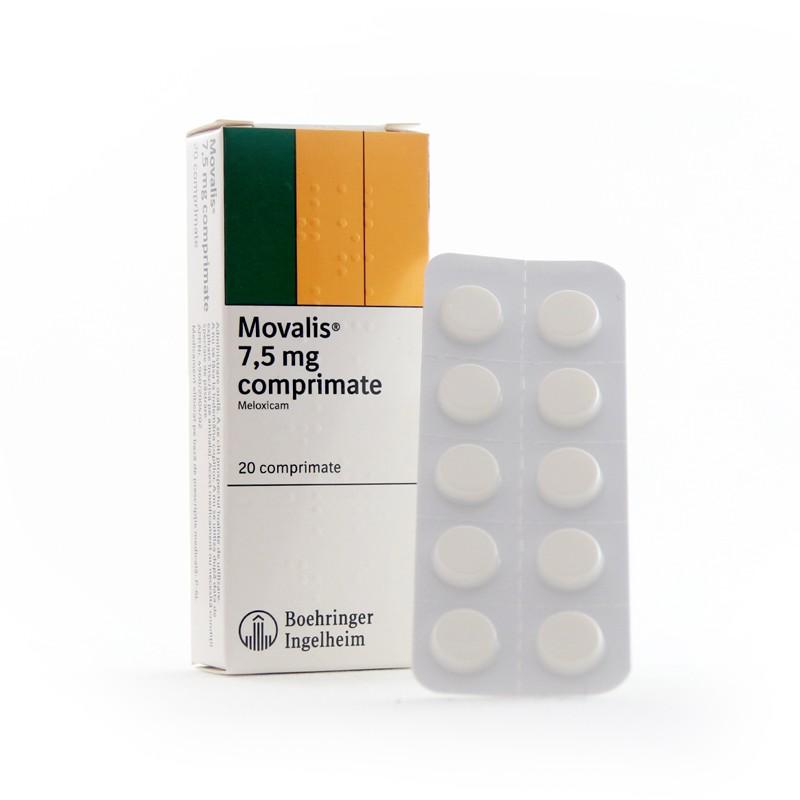 Movalis 15 mg x 20 compr. | Catena | Preturi mici! - Pastile pentru dureri articulare meloxicam
