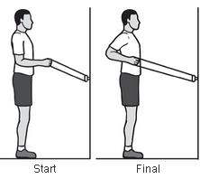 exerciții de durere la umăr)