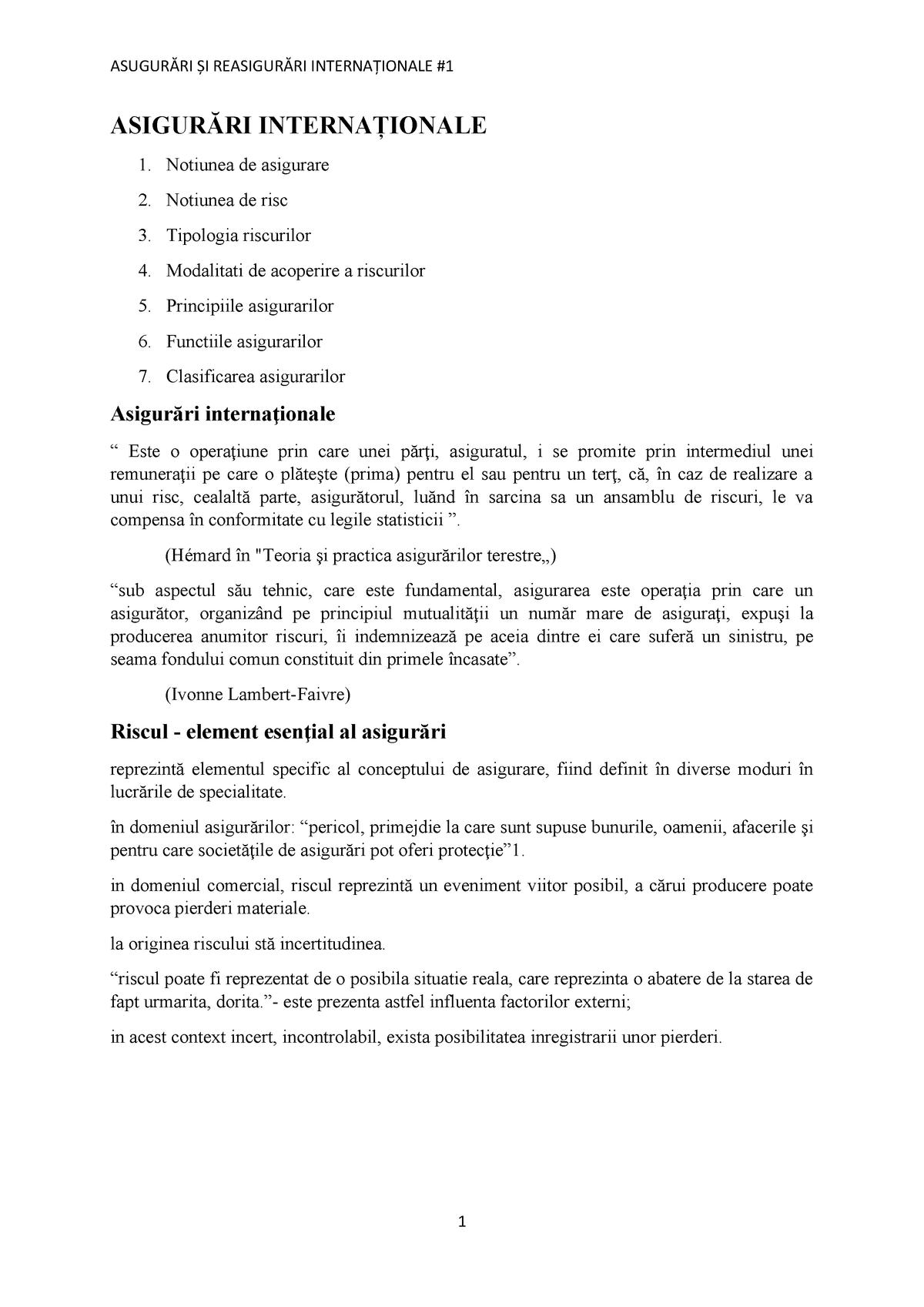 clasificarea daunelor comune