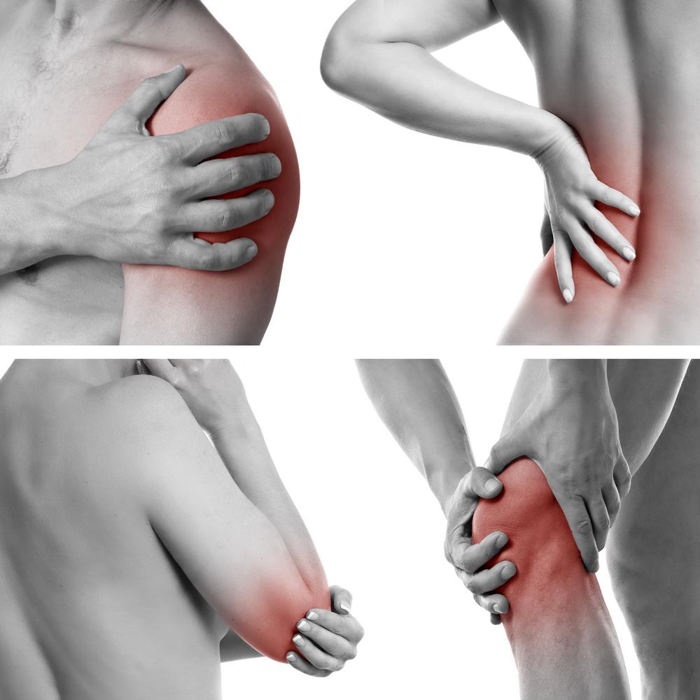 Articulațiile de pe brațul drept și piciorul rănit